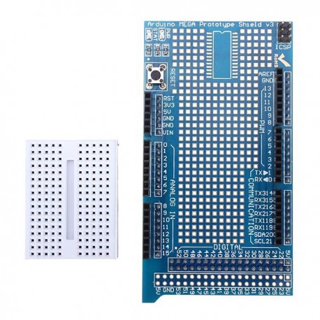 Shield Arduino MEGA avec breadboard