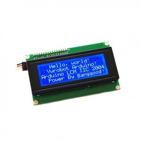 Afficheur LCD 20x4 avec interface I2C