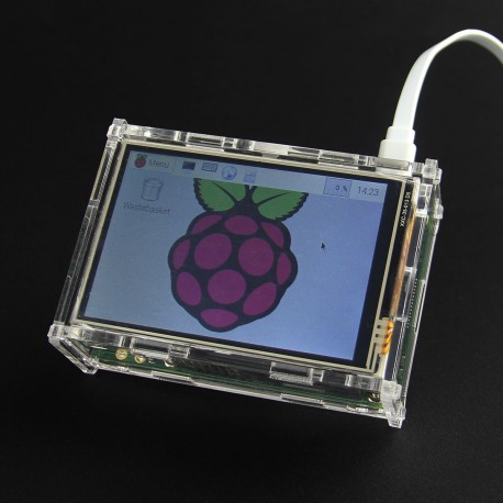 """Écran TFT 3.5"""" avec boîter pour Raspberry 2"""